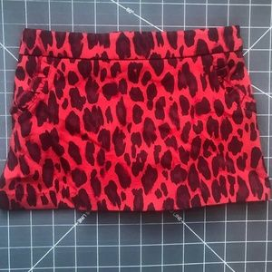 Kate Spade Sz 12 M Toddler Girls Cheetah Skirt NWT